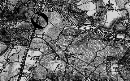 Old map of Panshanger in 1896