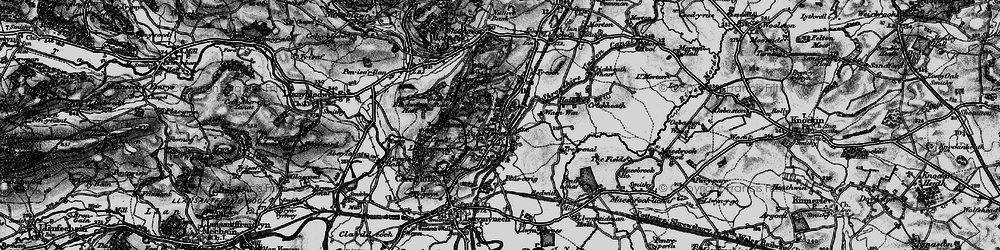 Old map of Pant in 1897
