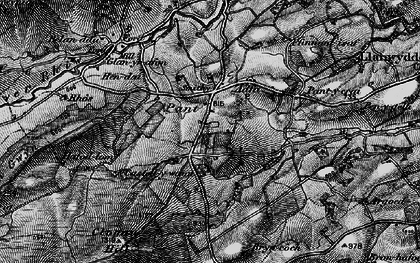 Old map of Aberclawdd in 1899