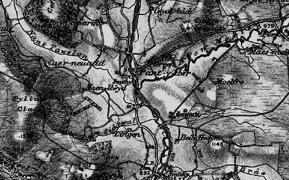 Old map of Lingen in 1899
