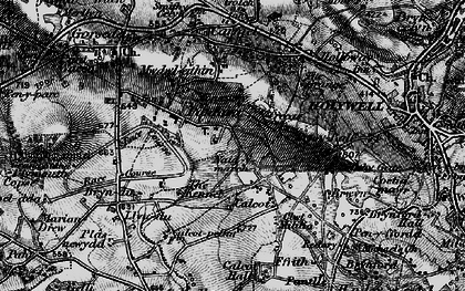 Old map of Pantasaph in 1896