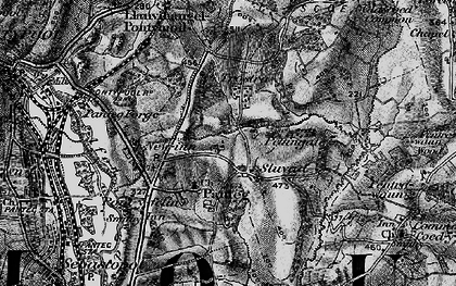 Old map of Panteg in 1897