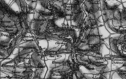 Old map of Lantewey in 1895