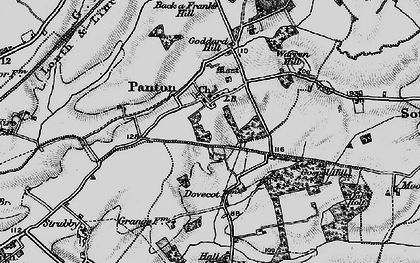 Old map of Wire Hill in 1899