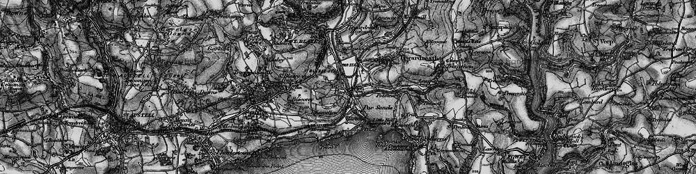 Old map of Par in 1895