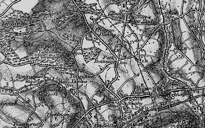 Old map of Park Bottom in 1896