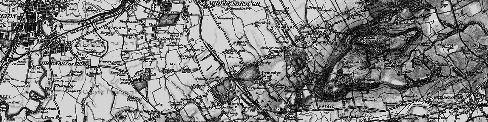 Old map of Park End in 1898