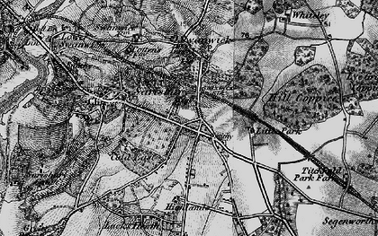 Old map of Park Gate in 1895
