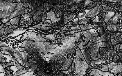 Old map of Todbank in 1897