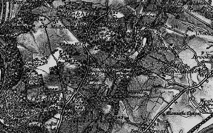 Old map of Ashwell Grove in 1897