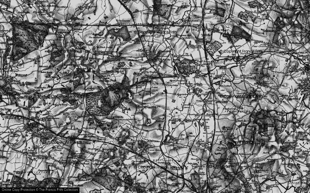 Old Map of Historic Map covering Ackbury Heath in 1897