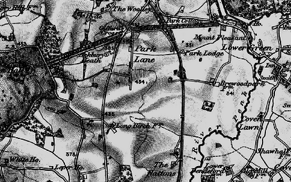 Old map of Ackbury Heath in 1897