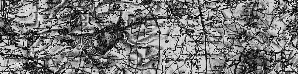 Old map of Ackbury Heath in 1897