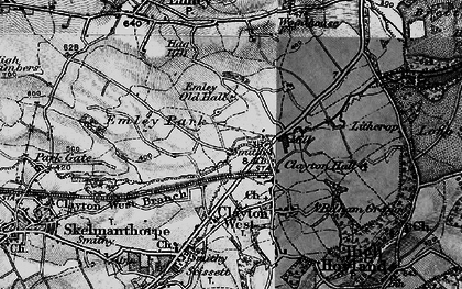 Old map of White Cross in 1896