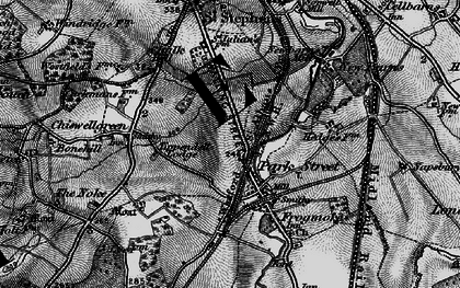 Old map of Park Street in 1896