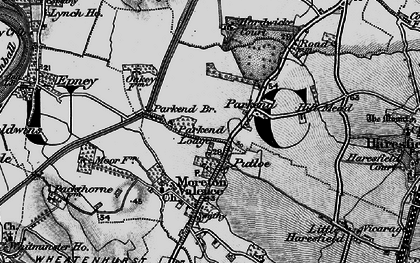 Old map of Parkend in 1896