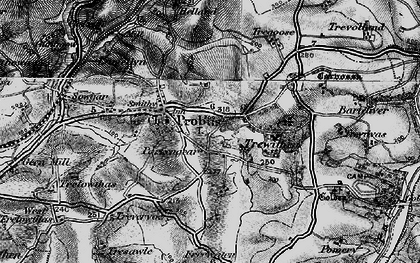 Old map of Parkengear in 1895