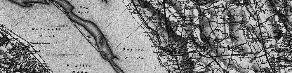 Old map of Parkgate in 1896