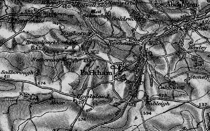 Old map of Parkham in 1895