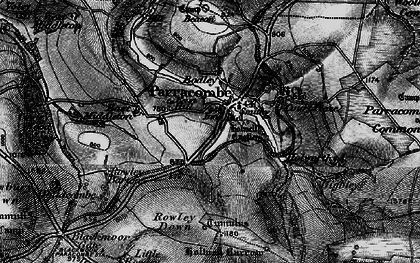 Old map of Parracombe in 1898