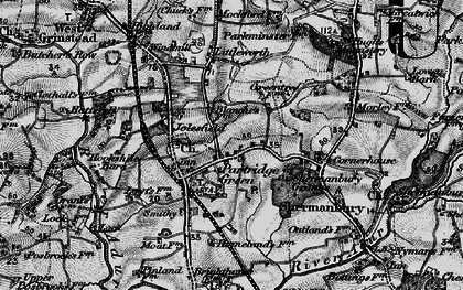 Old map of Partridge Green in 1895