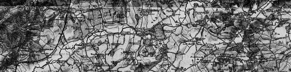 Old map of Albyns in 1896