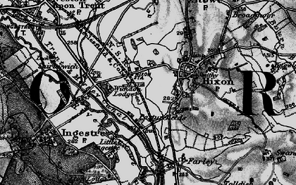 Old map of Abbots Bromley Cycle Way in 1898