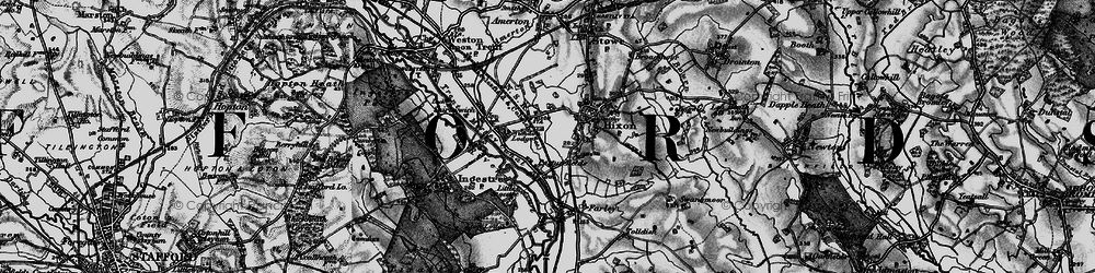 Old map of Wychdon Lodge in 1898