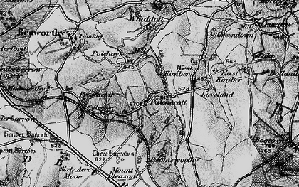 Old map of Whiddon in 1895