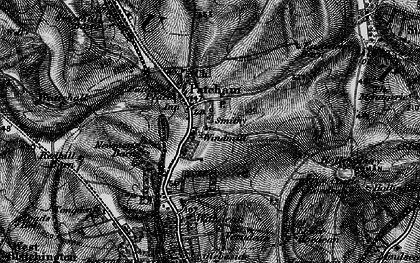 Old map of Patcham in 1895
