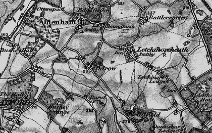 Old map of Patchetts Green in 1896