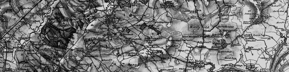 Old map of Layer Brook in 1896