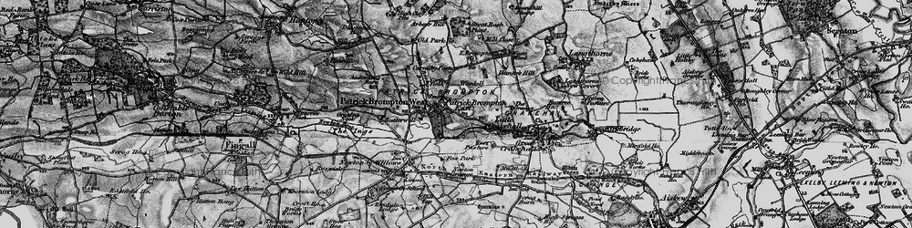 Old map of Patrick Brompton in 1897