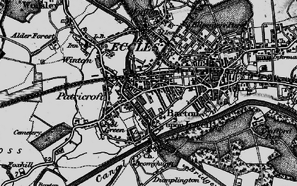 Old map of Patricroft in 1896