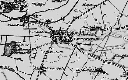 Old map of Patrington in 1895
