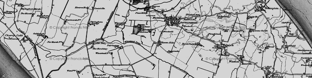 Old map of Winestead Drain in 1895
