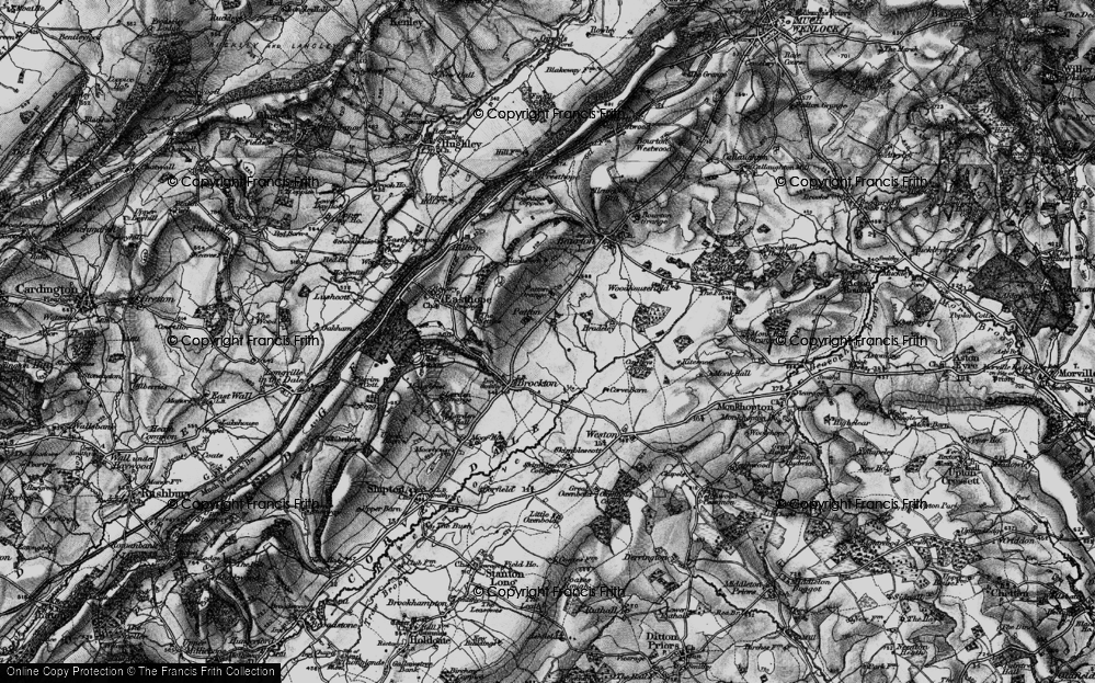Old Map of Historic Map covering Larden Cott in 1899
