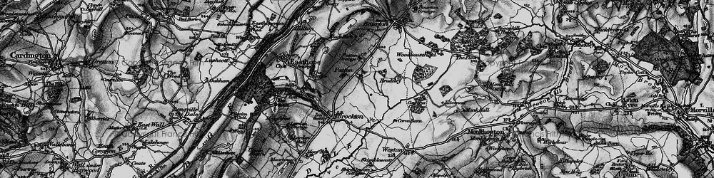 Old map of Larden Cott in 1899