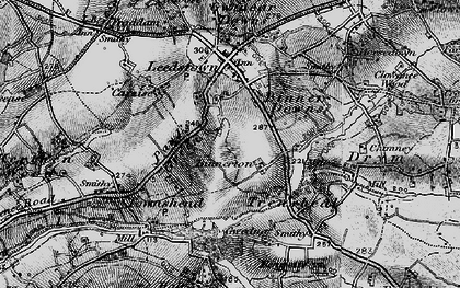 Old map of Paul's Green in 1895