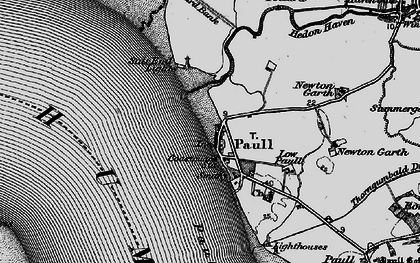Old map of Paull in 1895