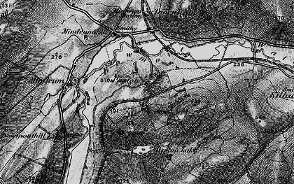 Old map of Whaup Moor in 1897