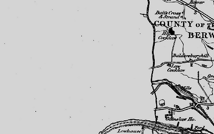 Old map of Baldersbury Hill in 1897