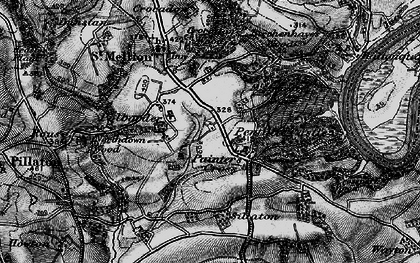 Old map of Paynter's Cross in 1896