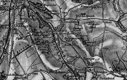 Old map of Peak Dale in 1896