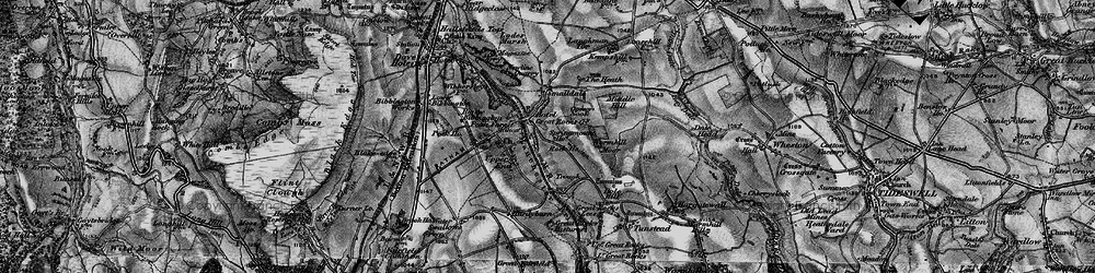 Old map of Wormhill Moor in 1896