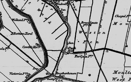Old map of Weston Fen in 1898