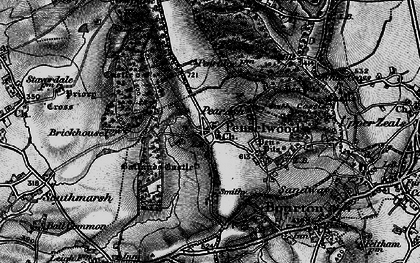 Old map of Ballands Castle in 1898