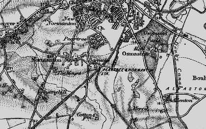 Old map of Pear Tree in 1895
