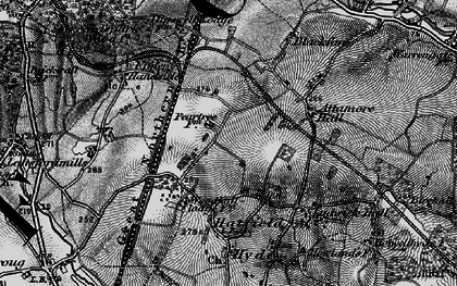 Old map of Peartree in 1896