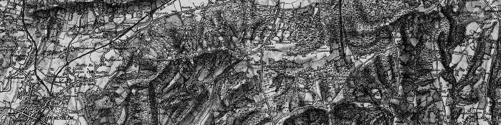 Old map of Pease Pottage in 1895